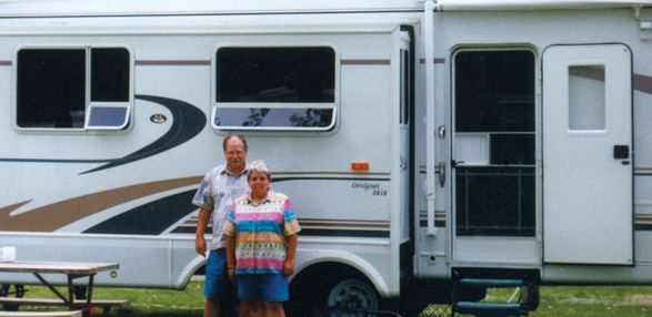 Dan and Margaret C. with their RV