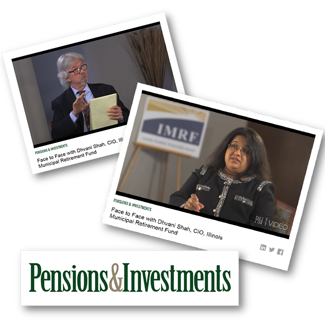 Screenshots from Face to Face with Dhvani Shah by Pensions & Investments