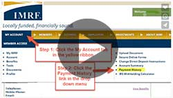 View Payment Information in Member Access